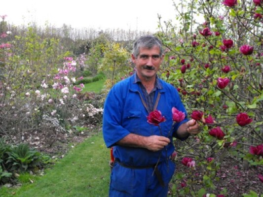 Magnolia Genie with breeder Vance Hooper